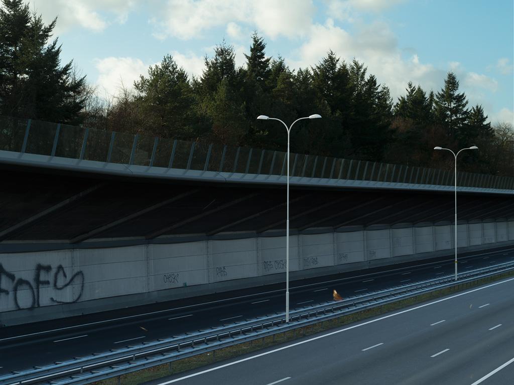 A28 sound barrier near Zeist