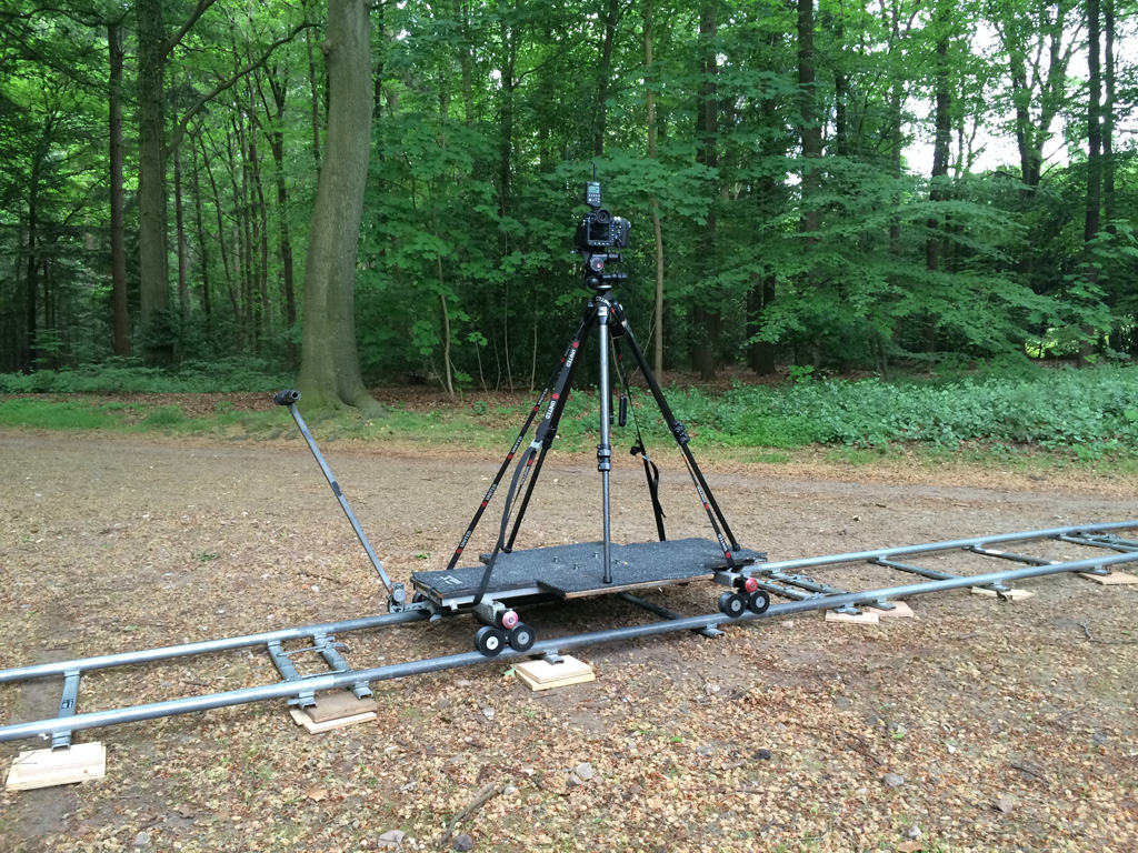 Pentax 645D on dolly, ready to roll